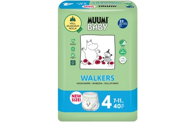 Muumi Walkers housuvaippa 7-11kg 40kpl koko 4