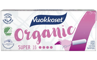 Vuokkoset Organic tamponi 16kpl super
