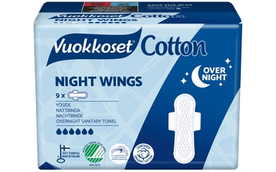 Vuokkoset cotton side 9kpl night wings sensitive