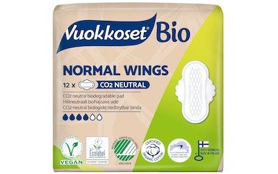 Vuokkoset 12kpl 100%Bio Normal Wings ohutside