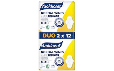 Vuokkoset slim side 2x12kpl wings duo