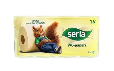 Serla wc-paperi 16rl keltainen