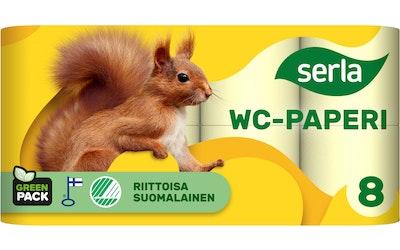 Serla wc-paperi 8 rl keltainen