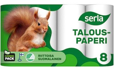 Serla Talouspaperi 8rl valkoinen