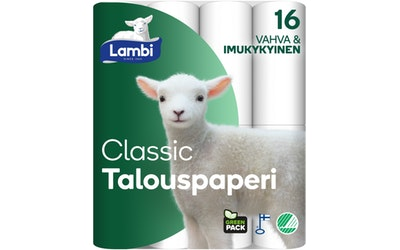 Lambi talouspaperi 16 rl valkoinen