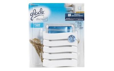 Glade Discreet 8g clean linen sähköinen ilmanraikastin