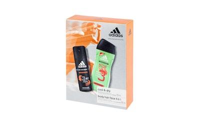 Adidas lahjapakkaus miehille Intensive Antiperspirantti spray 150ml+ Active Start suihkugeeli 250ml