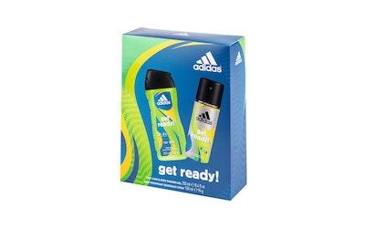 Adidas Get Ready lahjapakkaus miehille ADP Spray 150ml+Suihkugeeli 250ml