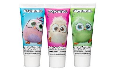 Oxygenol Angry Birds Hatchlings hammastahna 50ml vadelma 6+