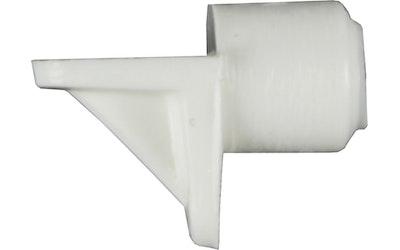 Hyllynkannatin 666, 5mm muovi, valkoinen 12kpl / pkt