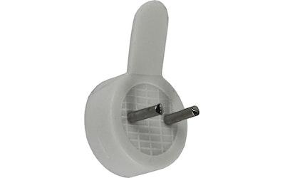 Pisla taulukoukku 6kpl mini muovi valkoinen