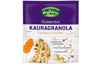 Myllärin Gluteeniton Kauragranola Porkkana-inkivääri 40g