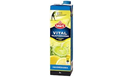 Marli Vital sitruuna-lime palautumisjuoma magnesiumilla 1l