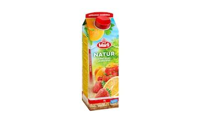 Natur appelsiini-mansikkatäysmehu 1l