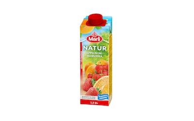 Natur appelsiini-mansikkatäysmehu 2,5dl
