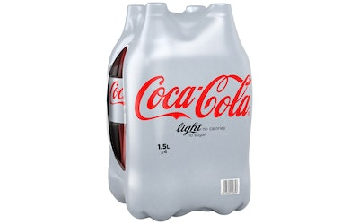 Coca-Cola Light 1,5l 4-pack dolly