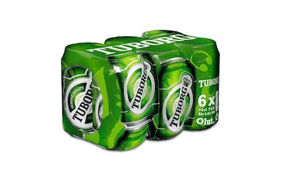 Tuborg Green 4,5% 0,33l tlk 6-pack