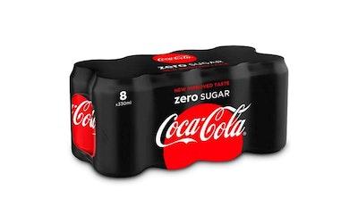 Coca-Cola Zero 0,33l 8-pack virvoitusjuoma