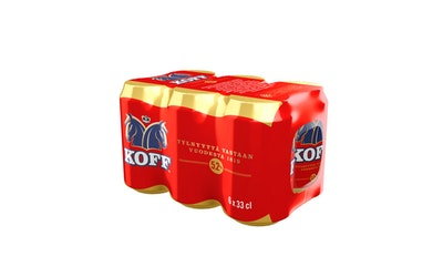 Koff lager 5,2% 0,33l 6-pack