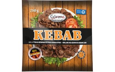 Görans grillattuja ja irtopakastettuja kebablastuja 250g