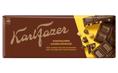 Karl Fazer Tumma suklaa kokonaiset hasselpähkinät 200g