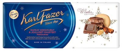 Karl Fazer 200g Winter Edition jouluisia mausteita & rapeita keksimuruja