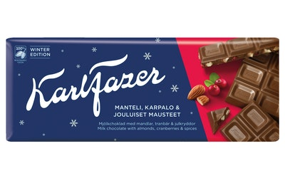 Karl Fazer suklaalevy 200g almonds&cranberries