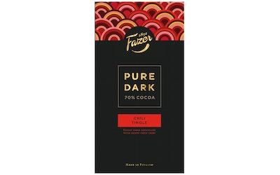 Fazer Pure Dark 70% suklaalevy 95g chili