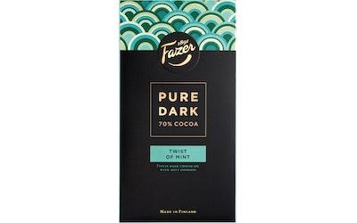 Fazer Pure dark 70% suklaalevy 95g mint