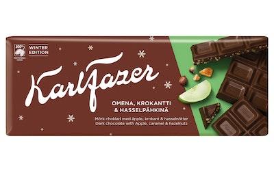 Karl Fazer tumma suklaalevy 200g apple, caramel & hazelnuts