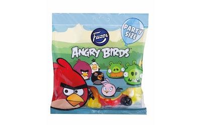 Fazer Angry Birds Party size 300g pussi, hedelmä- ja lakritsimakeisia