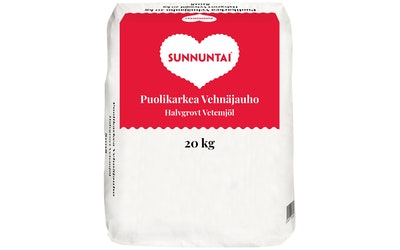 Sunnuntai puolikarkea vehnäjauho 20kg