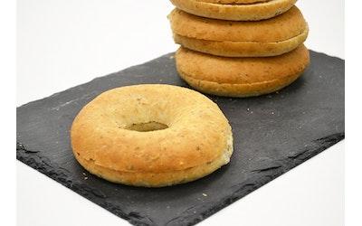 Rollfoods Vehnä-bagel halkaistu 45 x 90g 4,05kg pakaste