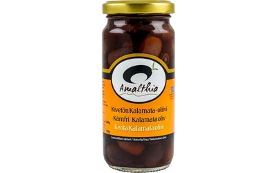 Amalthia Kivetön Kalamata-oliivi 260g/140g