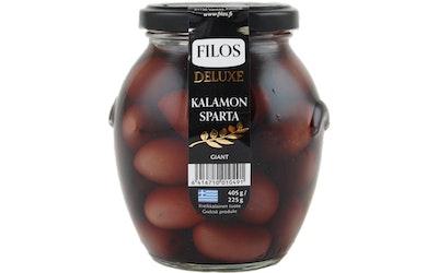 Filos Deluxe Kivellinen Kalamata-oliivi 405g/225g