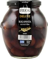 Filos Deluxe Kalamata-oliivi kivetön Giant 360g/180g