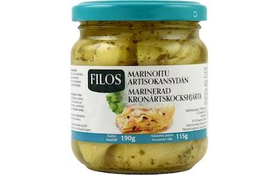 Filos Marinoitu artisokansydän 190g/115g