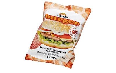 Oles Burger Naudan Paistovalmis täyslihapihvi 6 x 100 g