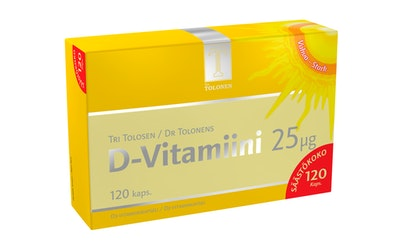 Tri Tolonen D-vitamiini 25mcg 120kpl