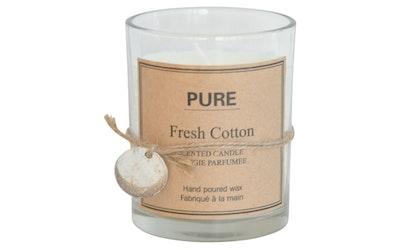 Finnmari tuoksukynttilä lasi 7x9cm cotton valkoinen