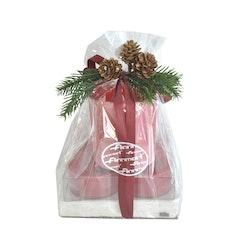 Finnmari lahjapakkaus kynttilä/lautasliina/lasi