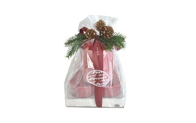 Finnmari lahjapakkaus kynttilä/lautasliina/lasi - kuva