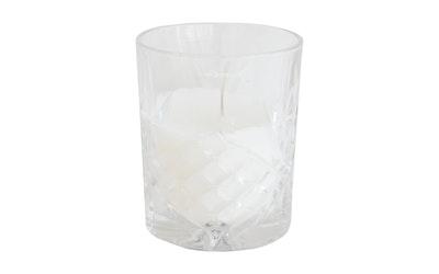 Finnmari kristallilasikynttilä 7x10cm valk