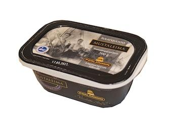 Porlammin Mustaleima sulatejuusto 200 g