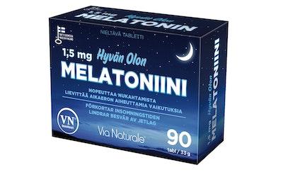 Via Naturale Hyvän Olon melatoniini ravintolisä 90tabl