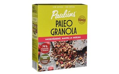 Paulúns Paleo granola 350g hasselpähkinä,manteli ja vadelma