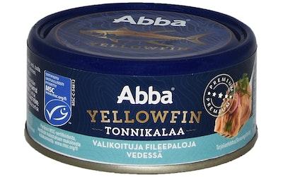 Abba Yellowfin tonnikalaa vedessä MSC 150g/105g