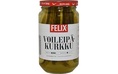 Felix voileipäkurkku 460/230g pitkittäin viipaloituja kurkkuja mausteliemessä