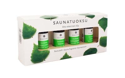 Emendo saunatuoksut 4 x 10 ml + puuteline