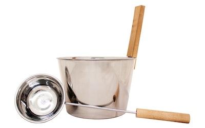 Emendo teräksinen saunakiulu + kauha - kuva